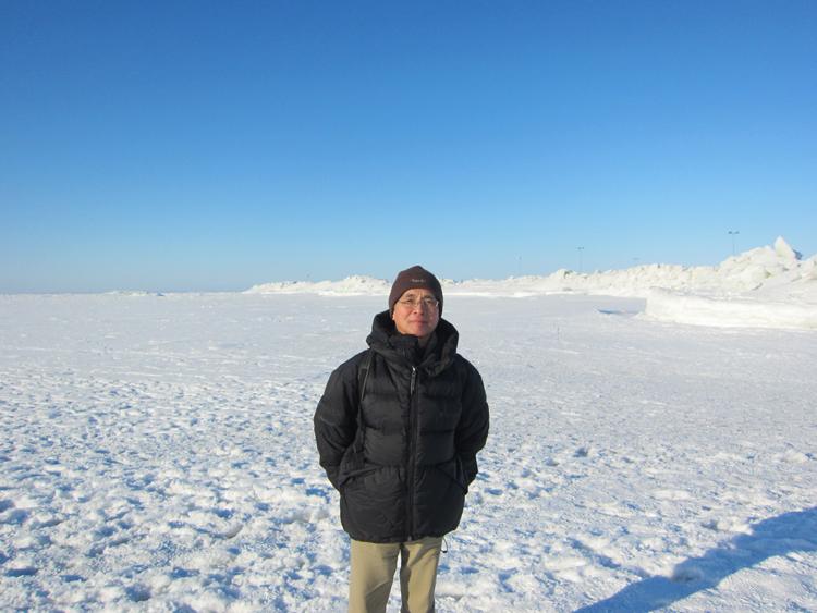 厳冬のフィンランド・ハイルオト島(北緯65度)にて。