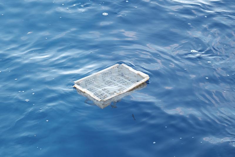 房総半島沖で撮影された海洋を漂うプラごみ(写真提供:JAMSTEC)